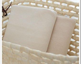 Jersey, organic cotton, child, baby, beige, natural cotton, linen color