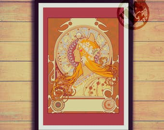 MuChat Zodiac - Mucha Inspired Posters and Postcards