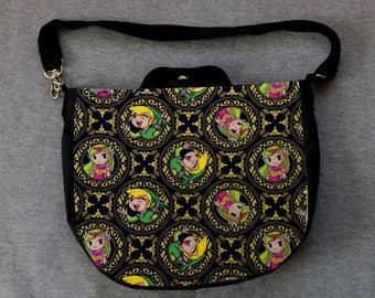 Link Princess Medallion Cross Body Purse Messenger Bag