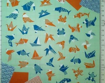 Japanese cotton furoshiki wrapping cloth - Origami animals
