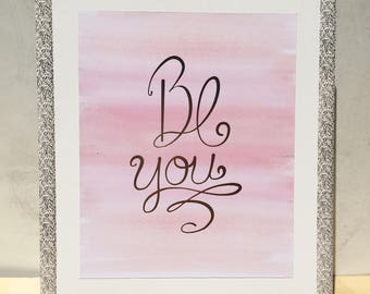 Be You 11x14 Canvas Pallet Wall Print