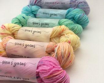 LIMITED EDITION: Mini Skein Rainbow, 120g sock yarn, 6x20g mini skeins