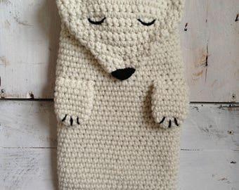 Polar Bear Hot Water Bottle Cover
