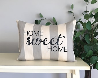 Home Sweet Home Pillow, Decorative Pillow, Rustic Home Decor, Accent Pillow