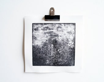 The Weathering ~ etching, handmade, print, printmaking, landscape, mountains, Scotland, abstract, texture, monochrome