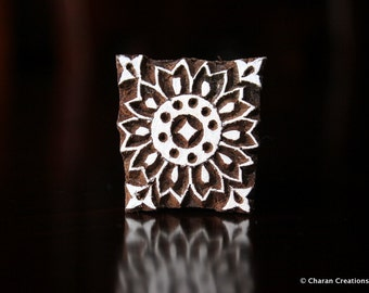 Soap Stamp, Pottery Stamp, Textile Stamp, Indian Wood Stamp, Tjaps- Small Floral motif