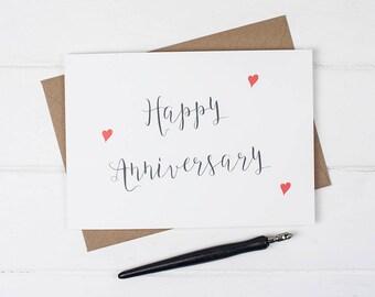 Happy Anniversary, Anniversary Card, Congratulations on your anniversary, Wedding Anniversary, Chic Anniversary card,