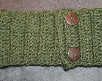 Crochet adjustable headband ear warmer