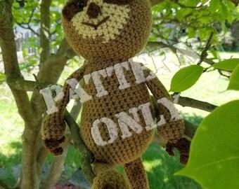 Stan The Crochet Sloth Crochet Pattern PDF File- Crochet Sloth Pattern- Crochet Patterns