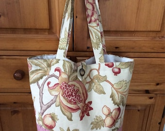 Shopping bag, tote bag, holiday bag, shoulder tote bag, fabric tote bag, summer bag, handmade bag, travel bag, large handbag,