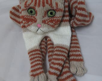 Tabby Red Cat Knitting Cat Scarf Scarf Animal knitting scarf-Cat Lover