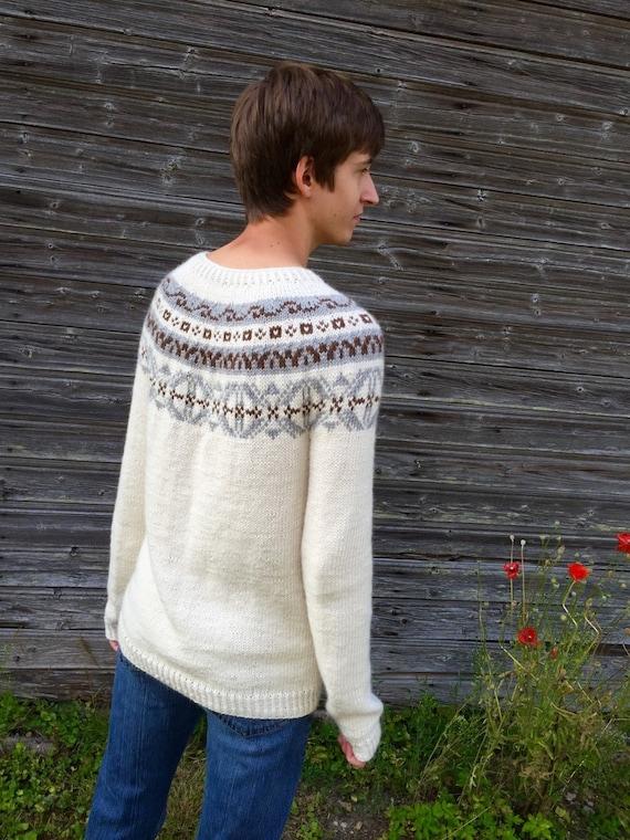 Fair Isle sweater Men's sweater Icelandic sweater Alpaca