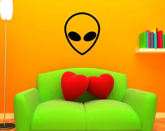 Alien Wall Decal - LARGE Outer Space Mural Sticker