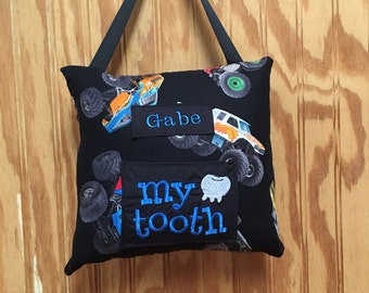 Monster Truck Tooth Fairy pillow