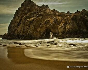 Beach Photography, Big Sur Photography, California Photos, Keyhole Rock in California, Fine Art Print, Pfeiffer Beach,