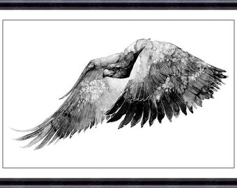 Bird Watercolor Painting Art Print  - Bird Watercolor - Bird Art - Watercolor Painting - Bird Illustration Print