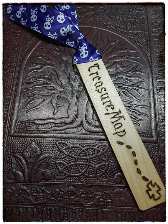 Piratey Treasure Wood Bookmark