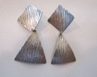 """huge sterling earrings taxco pierced earrings mexico 3"""""""