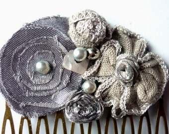 Little Grey Silver Comb Eco Friendly Wedding