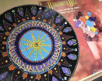 Mandala Art // Vintage home decor // Vinyl Decor Piece// Vinyl Record