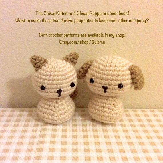 Patrón amigurumi Crochet Animal perro Chibi Kokeshi muñeca