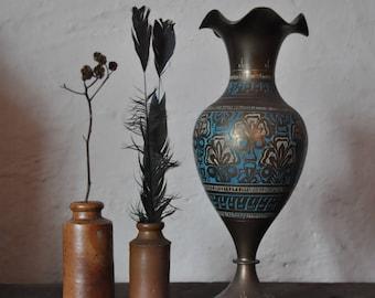 Engraved Metal Ethnic Vase