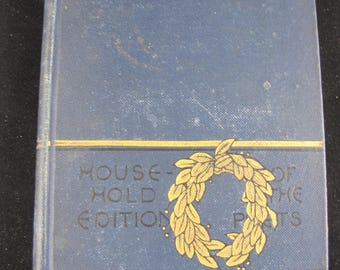 Whittier's Poems // Household Edition// Of The Poets//Hardback 1884
