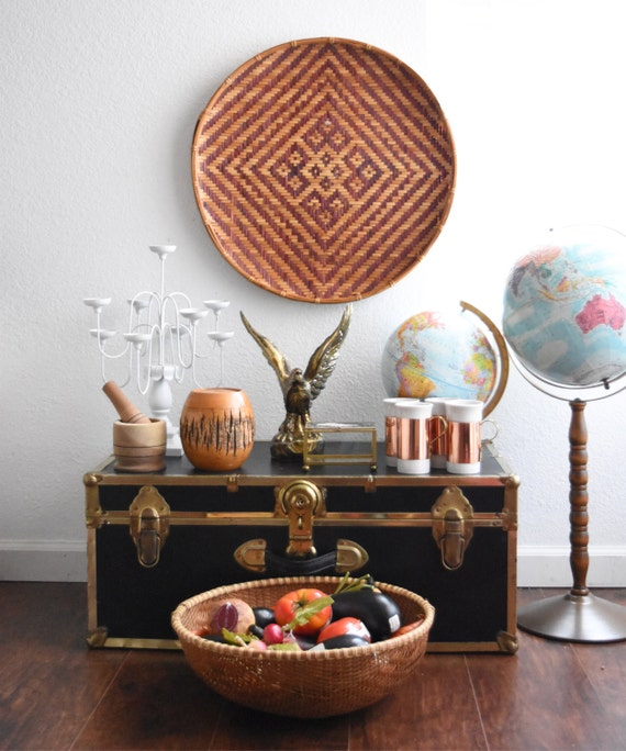 vintage replogle world globe on long wood stand // raised relief atlas // 12 inch // multicolored