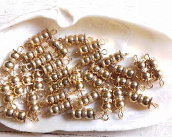 metal screw 10 clasps gold plated 10 x 5 mm *.