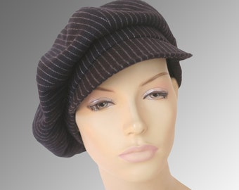 Newsboy Bowie Gatsby Bakerboy Paperboy Cap Hat Retro Vintage Custom Made Bespoke Any Size XL Large Any Fabric