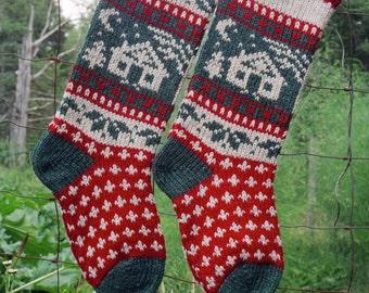 Online Download Annie's CABIN Knitting Pattern Hand Knit