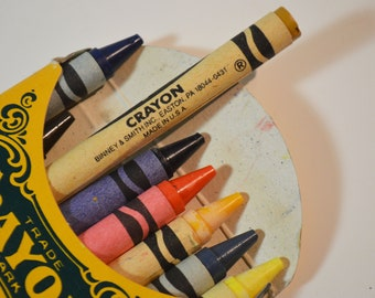 1991 Binney & Smith Co. No 8 Crayola Collector's Colors Limited Edition Crayons
