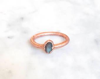 Single Labradorite Ring Size 4 1/4