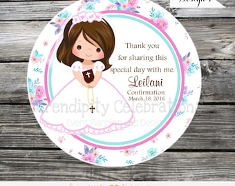 Printable Holy Communion Favor Tags, DIY Digital First Holy Communion Tags, DIY Communion Stickers, Confirmation or Communion Favor tags