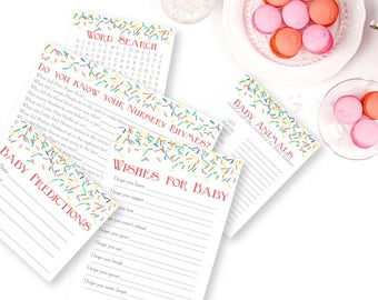 Baby Sprinkle Games, Baby Shower Games, Word Search, Nursery Rhymes, Baby Sprinkle Activities, Printable Games, Sprinkle Shower Games, girl