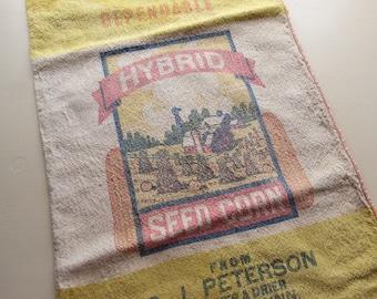 vintage hybrid seed corn sack