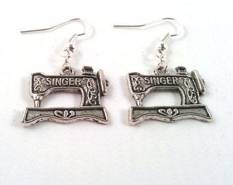 Sewing Machine Earrings - Sewing Earrings - Quilter Earrings - Crafter Earrings