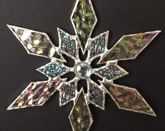stained glass snowflake suncatcher (design 31B)