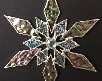 stained glass snowflake suncatcher (design 31B)