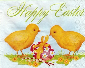 675 little Easter chicks pattern 4 X 1 lunch size paper towel