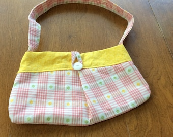 Top handle lined purse