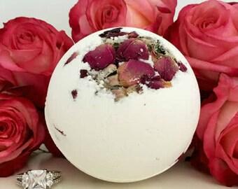 Romantic message in a bath bomb!