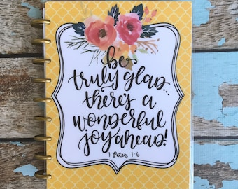 """Happy Planner Cover Set: """"Truly Glad"""", 10 Mil Laminated"""