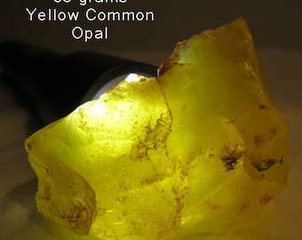 Yellow Opal  *  Common Opal   *  Mineral Specimen
