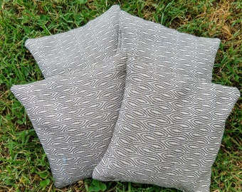 Set of 4 All Weather Double Stitched - White and Gray Cornhole Bags