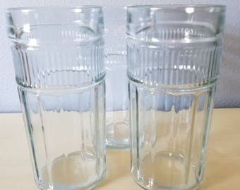 Vintage Anchor Hocking clear tumblers.