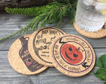 Nightmare Before Christmas Brew Themed Cork Coaster Set of 4