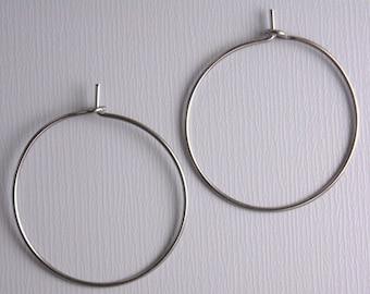 HOOP-GUNMETAL-WINE-25MM - 20 pcs of 25mm Wine Hoop Earrings in Gunmetal
