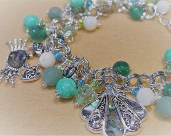 Seaside Collection Abalone Shell Inlay Sea Charm Bracelet