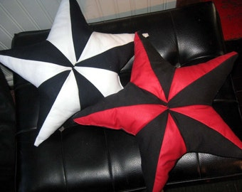 Nautical Star Cotton Pillow CUSTOM COLOR  by Vicmes Housewear